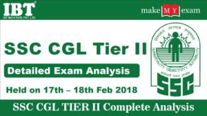 SSC CGL Tier II Exam Analysis 2018