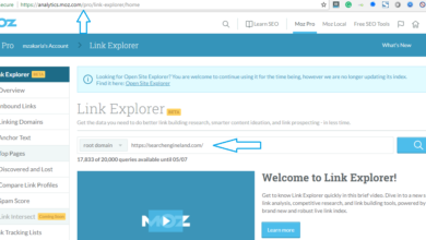 MOZ Link explorer pro version update