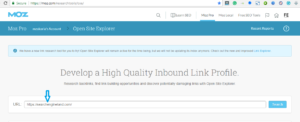 MOZ Open Site Explorer (OSE)