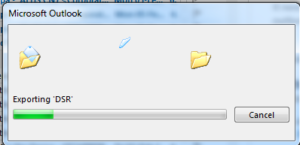 How to export outlook email backup data