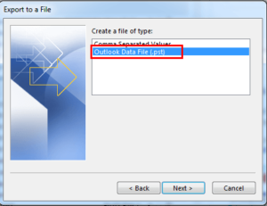 How to take backup of outlook mails