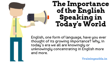 Importance of the English Speaking