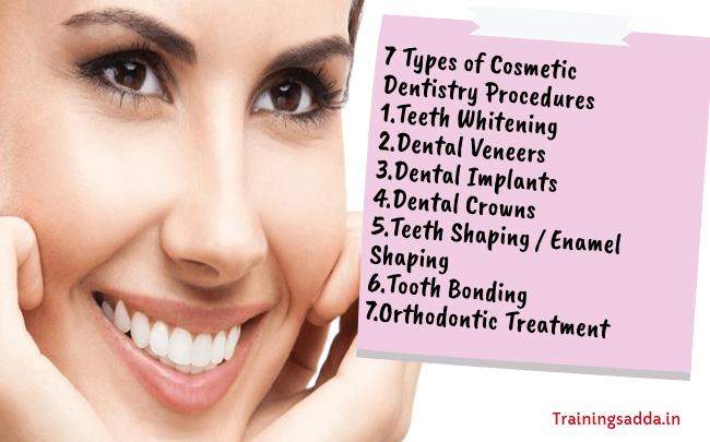 7 Types of Cosmetic Dentistry Procedures | Trainingsadda