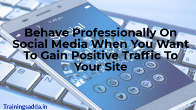 Behave Professionally On Social Media When You Want To Gain Positive Traffic To Your Site