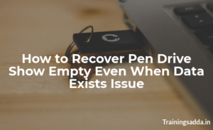Resolve 'Pen Drive Showing Empty Although it has Data' Issue Instantly