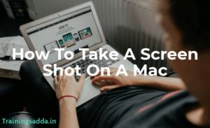 How to do a screenshot on a mac