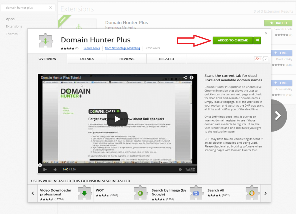 Domain Hunter Plus Extension for SEO Professionals
