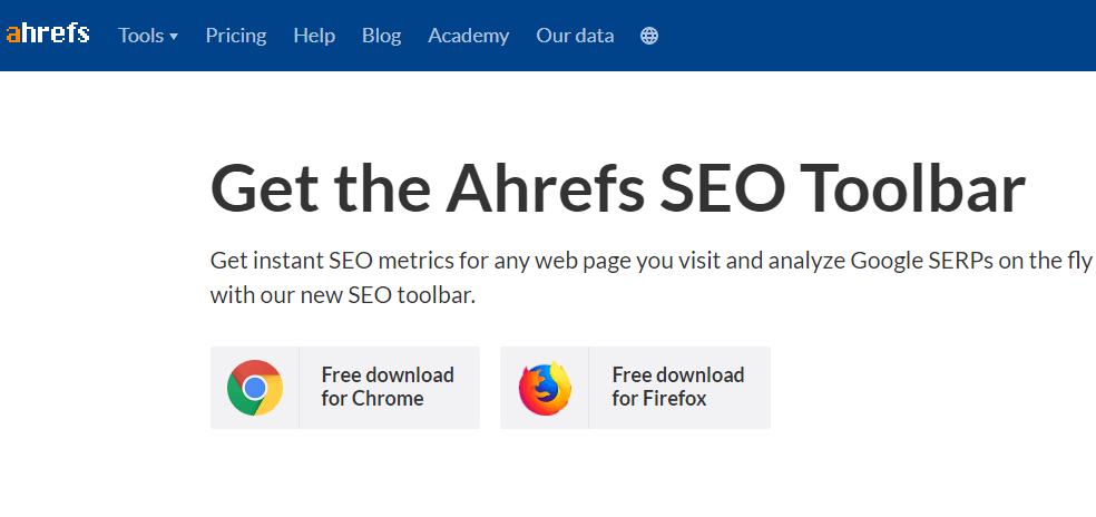 SEO Toolbar by Ahrefs
