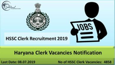 HSSC Clerk Jobs 2019 Notification | Haryana Clerks 4858 Recruitment Apply Online