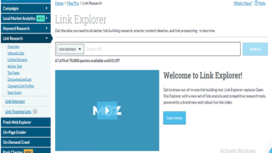 What is Moz link explorer and how it works?