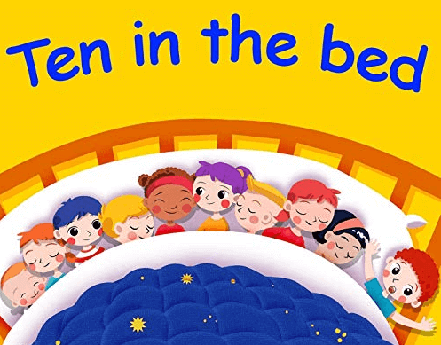 Ten in the Bed Storybook by the author Penny For kindergarden kids