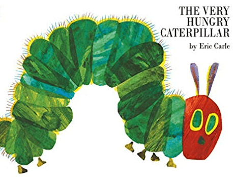The very hungry caterpillar storybook by the author Eric Carle