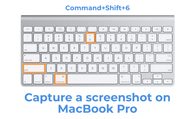 take a screenshot on MacBook Pro(Command+Shift+6)