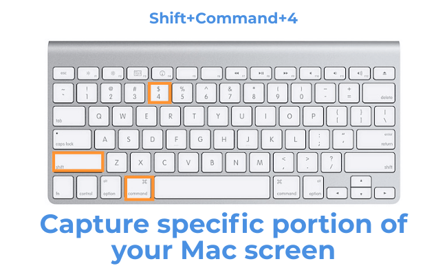 capture a specific portion on Mac (Shift+Command+4)