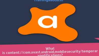 What is content://com.avast.android.mobilesecurity/temporaryNotifications?