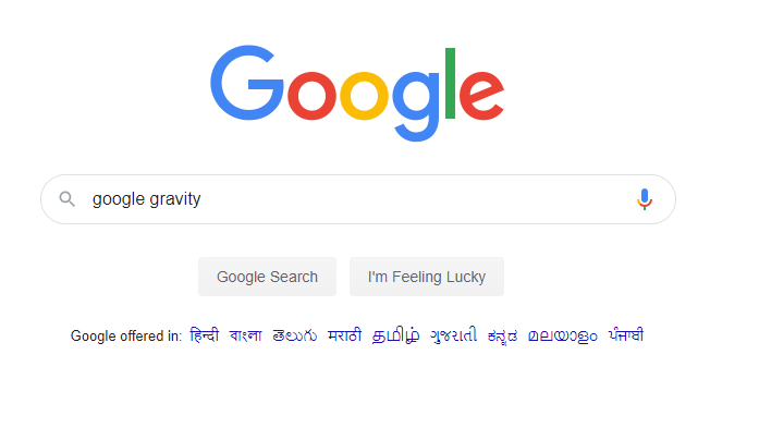 search google gravity