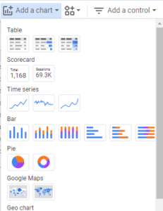 Add a Chart in Google Data Studio