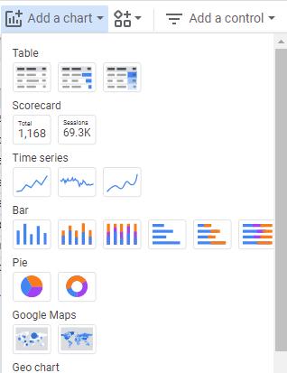Add a Chart in Google Data Studio