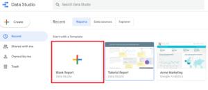 Google Data Studio - Create Report