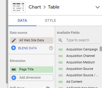 Selet the data