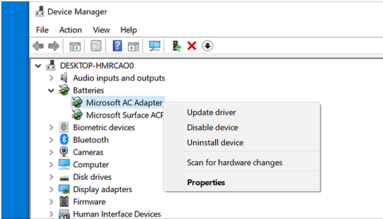 Windows Update Driver Using Device Manager